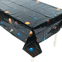 "Outer Space Plastic Tablecloth (54"" X 102"")  - $6.28"