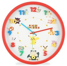 Pocket Monster Wall Clock Analog Continuous Second Hand Dial Statue Red Red - $70.13
