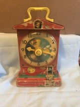 Fisher Price MUSIC BOX TEACHING CLOCK Musical Winding Vintage 1960's Tes... - $11.87