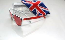Oakley Frogskins Raro Edición Limitada Inglaterra Union Jack con / Iridi... - $450.73