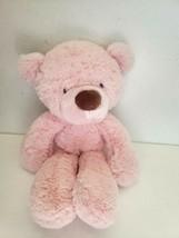 Baby Gund Lil Fuzzy Bear Plush Stuffed Animal 4030417 Pink Brown Nose - $39.58