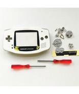GBA Nintendo Game Boy Advance Replacement Housing Shell Screen White Pik... - $17.88