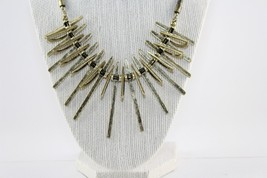 Vivi Love Cookie Lee Sun Ray Tribal Antique Gold Statement Necklace image 2