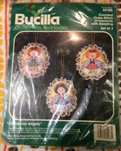 Bucilla Christmas Angels - Cross-Stitch Ornaments w/ Beading set of 3. # 82183 - $14.67