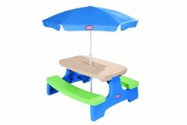 Little Tikes Easy Store Picnic Table With Umbrella - $112.73