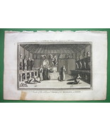 JAPAN Inside Celebrated Pagoda of Monkies - 230 yrs Old Original Engraving - $21.78