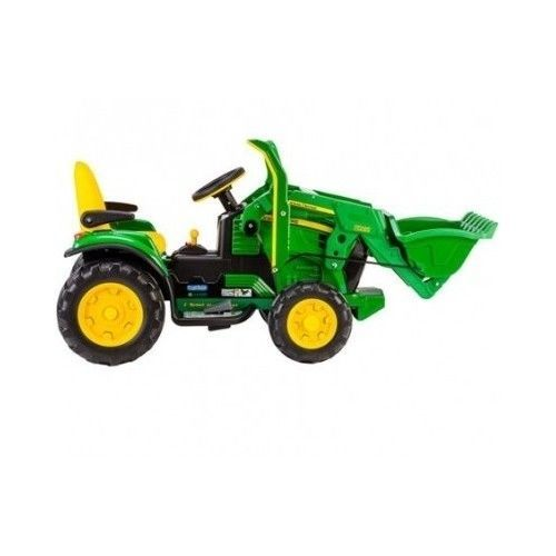 John Deere Power Wheels : John deere ride on toy battery powered tractor front