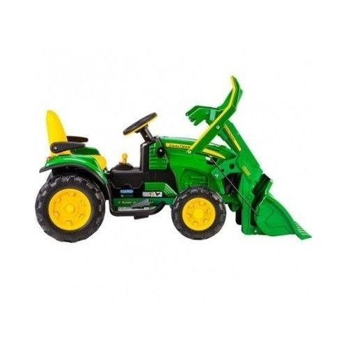 john deere ride on toy battery powered tractor front