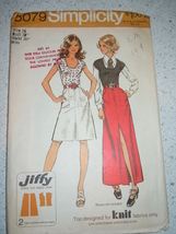 Vintage (1972) Simplicity Miss Size 16 Jiffy Skirt and Pullover Top Patt... - $5.99