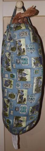 Paisley plastic bag holder IN STOCK