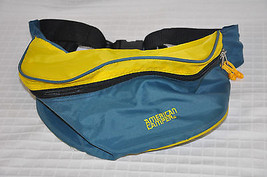 VTG American Camper LUMBAR Fanny Pack WAIST Fannypack YELLOW Teal Double... - $25.95