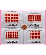 RED Velvet Dot Bindi 95 Tattoo Stickers Assorted Sizes Body Art India Je... - $7.39