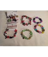10 pc glass lampwork bead jewellery lot - 5 bracelets, 5 earrings Kate a... - $65.83