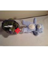 2pc set of Aurora stuffed animals blue bear triceratops rattle roar - $39.99