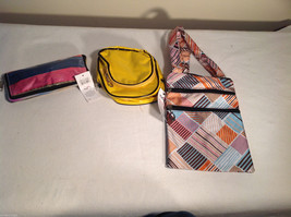 3 pc Lot Mad Style bags - foldaway shopper camera bag crossbody bag