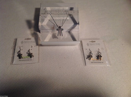 3 pc Trinity Cross COllection set paperweight + earrings NEW CZs