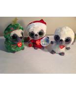 3pc set of Aurora Yahoo and Friends plush toys, new, rare tree santa white - $49.49