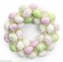 Easter Egg Wreath or Centerpiece with Lace and foam back basket stuffer