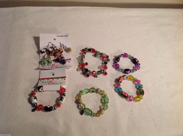 10 pc glass lampwork bead jewellery lot - 5 bracelets, 5 earrings Kate and Macy image 7
