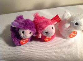 5pc set of small Aurora stuffed animals, 3 sheep, 2 penguins image 2