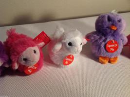 5pc set of small Aurora stuffed animals, 3 sheep, 2 penguins image 3