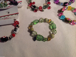 10 pc glass lampwork bead jewellery lot - 5 bracelets, 5 earrings Kate and Macy image 4