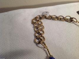 3 pc lot 2 necklaces 1 bracelet blue stone gold tone crystals CZs Allure image 6