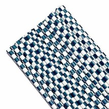 """7.75"""" navy blue checker print paper straws / 6-25 pieces / party supplies - $1.37 CAD+"""