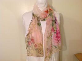Peony Sheer Fabric Scarf, pastel colors of your choice image 11