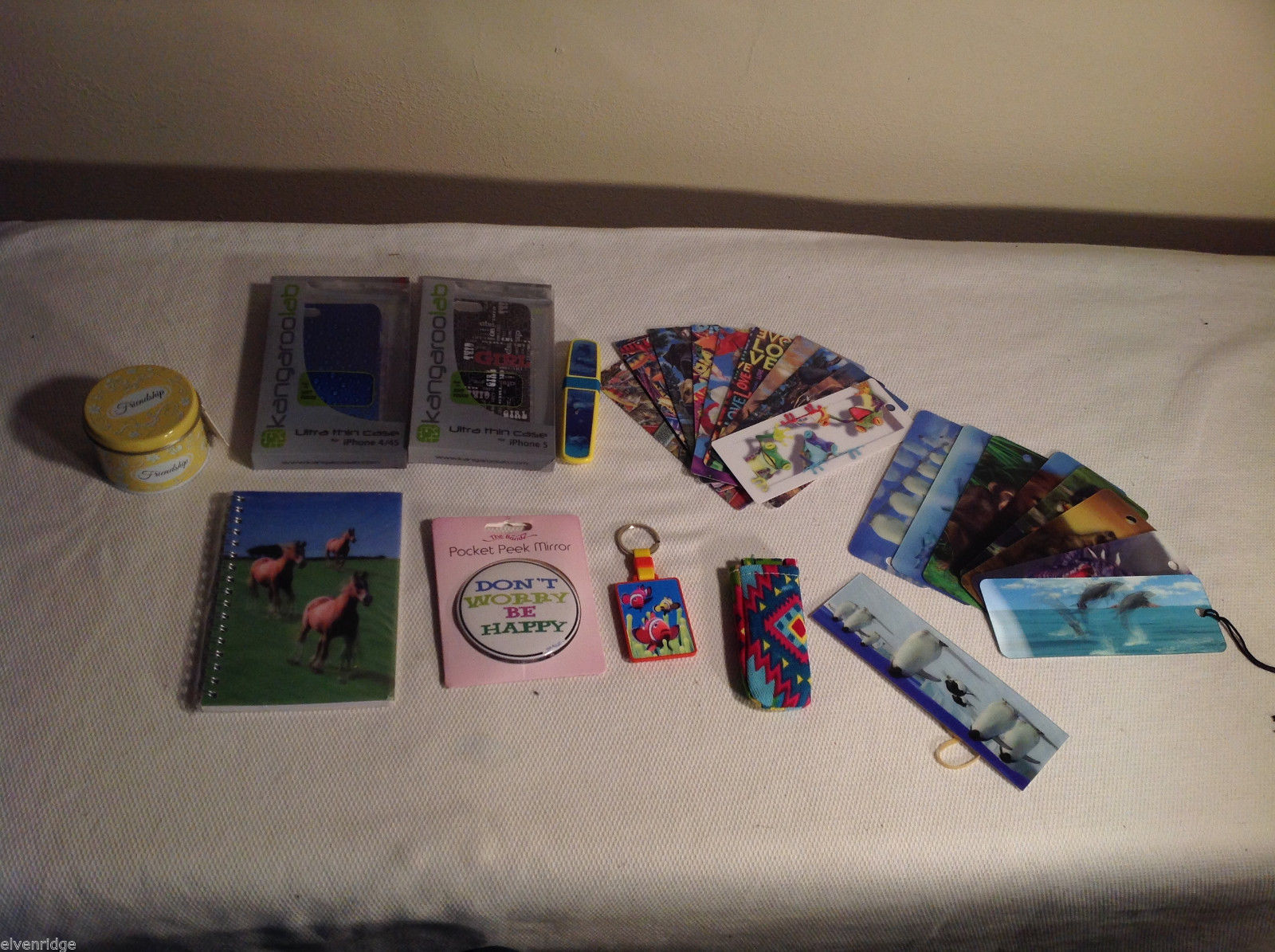 Huge gift lot Iphone 4/4s case Iphone 5/5s case holo pen bookmarks Mad Style