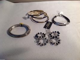 Lot of 6 bracelets gold tone silver tone multistrand Allure