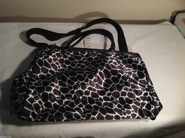 Mad Style Black and White Print Womens Tote Shoulder Bag Purse