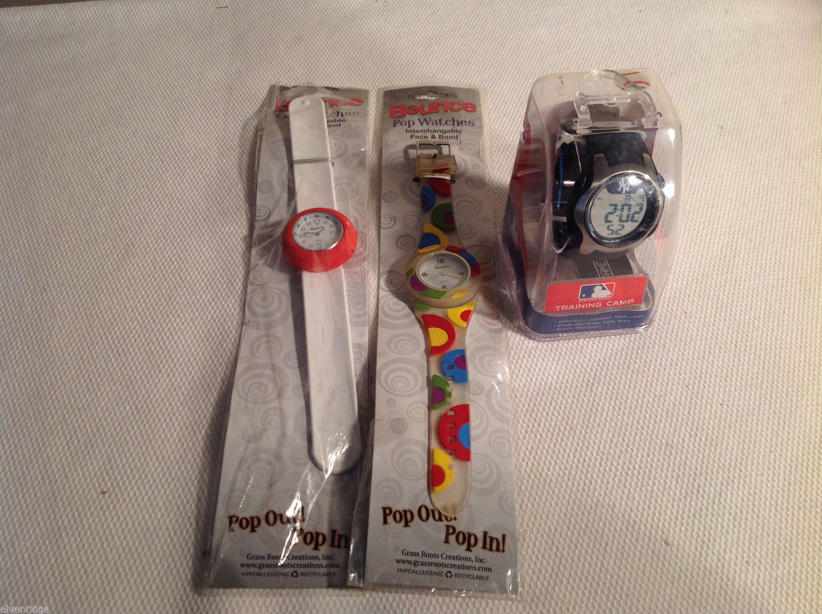 "Lot of 3 watches - ""Bounce"" Interchangeable face   Yankees Watch"
