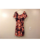 Womens Eva Mendes New York and Company Gray/Brown/Orange Flowers Dress, ... - $59.36