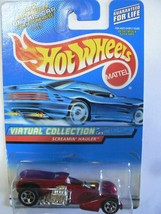 Hot Wheels 2000 Virtual Collection Screamin' Hauler Red on Rectangle Car... - $2.00