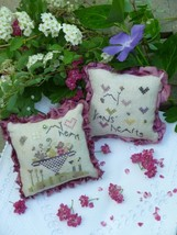 Our Hearts Pincushion kit cross stitch Shepherd's Bush - $20.00