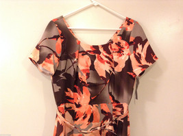 Womens Eva Mendes New York and Company Gray/Brown/Orange Flowers Dress, size 10 image 3