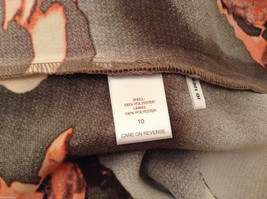 Womens Eva Mendes New York and Company Gray/Brown/Orange Flowers Dress, size 10 image 8