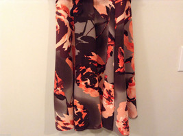Womens Eva Mendes New York and Company Gray/Brown/Orange Flowers Dress, size 10 image 6