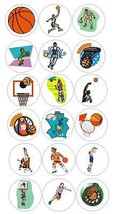 Basketball Player Stickers Labels Decal CRAFTS Teachers SCHOOL Made In USA #D165 - $0.99+