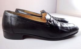 Salvatore Ferragamo Loafers Mens Black Leather Shoes Size 8.5 D - $84.10
