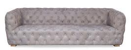 "92"" Restoration Style Sofa Vintage Gray Soft Italian Pigskin Tufted Leather - $2,721.51"