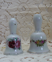 Vintage Mix N Match Bell Shaped Salt & Pepper Shaker Set // Floral Design,Japan - $10.25