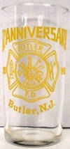 Butler Fire Department Butler N.J. 60th Anniversary Glass - $15.00