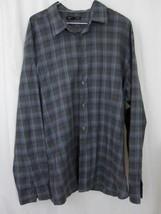 John Varvatos Shirt XL Blue Green Plaid Long Sleeve Button Down Extra Large - $34.99