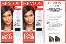 3 Boxes Revlon Permanent Root Erase Matches Leading 3 Black Shades Up To... - $32.99