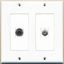 RiteAV  1 Port Coax Cable TV- F-Type 1 Port 3.5mm - Dual Gang Wall Plate - $17.75