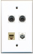 RiteAV  1 Port Coax Cable TV- F-Type 1 Port Phone RJ11 RJ12 Beige 2 Port 3.5... - $20.88