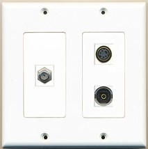 RiteAV  1 Port Coax Cable TV- F-Type 1 Port S-Video 1 Port Toslink - 2 Gang ... - $21.49