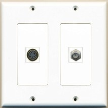 RiteAV  1 Port Coax Cable TV- F-Type 1 Port S-Video - Dual Gang Wall Plate - $17.75